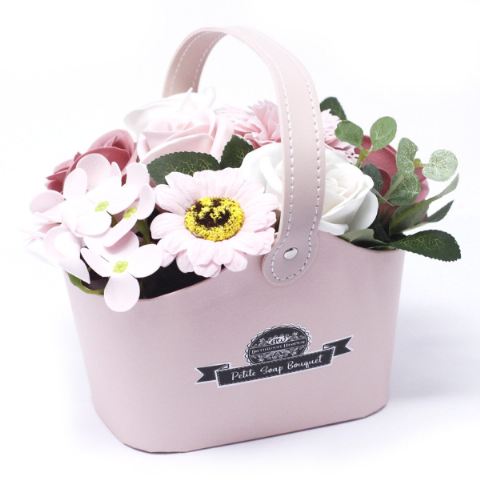 Peaceful Pink Soap Bouquet Petite Basket